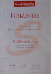 Saubermacherpreis David Laner 2011