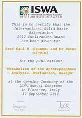 ISWA 2012 Publication Award