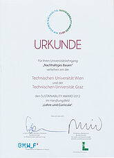 Sustainability Award 2012